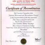 NAAC Accreditation Certificate of Second Cycle